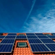 Solar Panels auf Dach