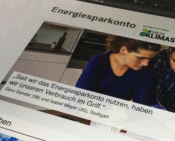 Homepage von energiesparkonto.de