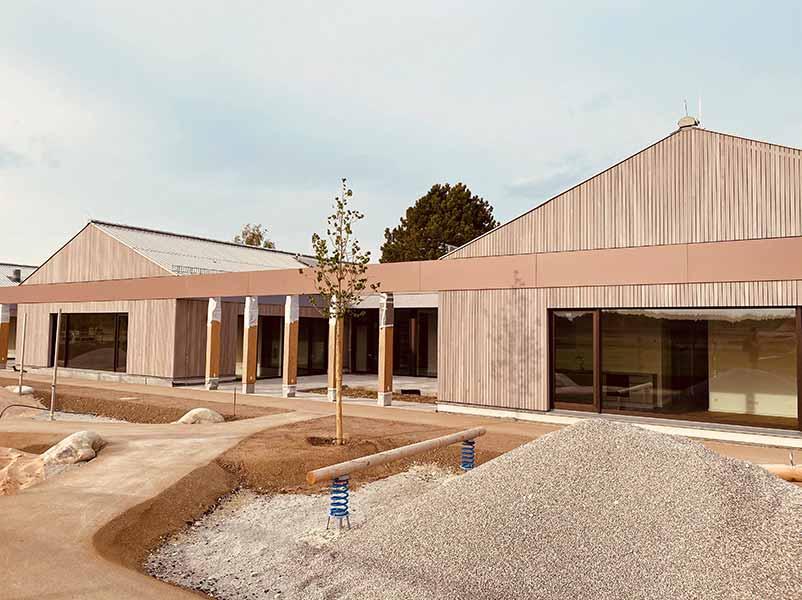 Umweltfreundlich Bauen: Kinderhaus Perchting, Aussenansicht